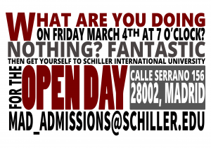 Open-Day-Invitation Schiller International University